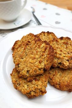 Almás-fahéjas zabkeksz - GastroHobbi Healthy Sweets, Healthy Baking, Vegetarian Recipes, Healthy Recipes, Cookery Books, Sweet Cakes, Winter Food, Cake Recipes, Breakfast Recipes
