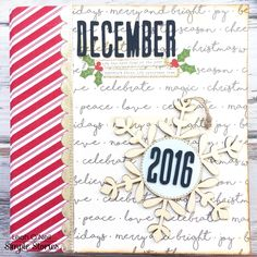 December Daily album from creative team member Leah O'Neil using our Holiday SN@P! Binder and Classic Christmas collection
