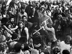 Gimme Shelter, Hell's Angels Beating An Audience Member At Altamont, 1970 Premium Poster at AllPosters.com