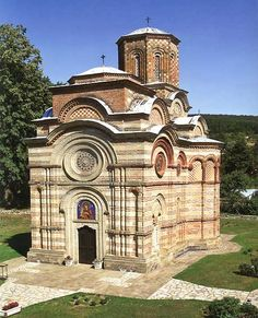 The most beautiful and best preserved monument of old Serbian architecture is the small church of the Kalenić monastery, Serbia, built in 1413 ad.