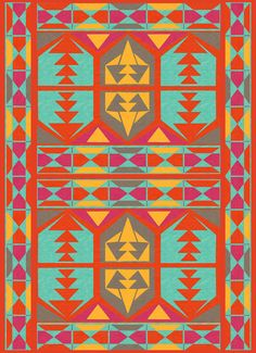 {colourful tribal art print} by Kitschy Kitschy Cool