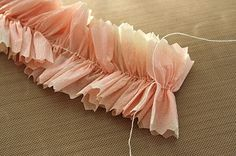 Make your own vintage crepe paper