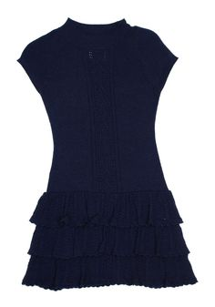 Mayoral Navy Tiered Dress, Size 8