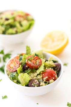 This simple Mediterranean Quinoa salad is the perfect dish to make whenever you're craving something light, fresh, summery, but still want it to be satisfying and filling!