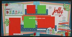 Two Page Christmas Holiday City Sidewalks Scrapbook Layout Page Kits #ctmhcitysidewalks #pagekits #scrapbooking #cricutexplore #scraptabulousdesigns