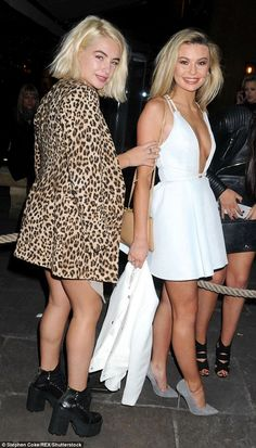 Best friends: The girls had a great time celebrating the filming wrap for Made in Chelsea'...