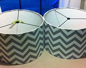 "@Jamie Kennedy             Large Drum Lamp Shade 17"" X 12""  Pendant Light Shade, Custom drum shade choose fabric. $75.00, via Etsy."