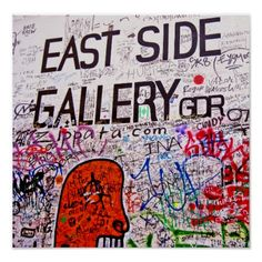 Shop East Side Gallery, Berlin Wall, Graffiti Poster created by Personalize it with photos & text or purchase as is! Graffiti Wall, Street Art Graffiti, East Side Gallery, Berlin Wall, Custom Posters, Poster Wall, Custom Framing, Wall Art, Prints