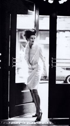 Steven Meisel for American Vogue, October 1997. Coat by Richard Tyler.