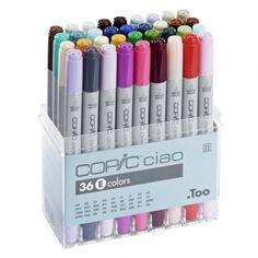 ZESTAW MARKERÓW COPIC CIAO 36 E COLORS - Sklep Plastyczny Tinta Dla Plastyków zamów online lub przyjdź i sprawdź!