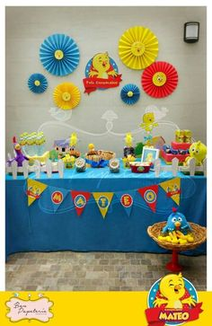 Fiesta Pollito amarillito - Mesa temática