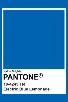 Electric Blue Lemonade #Pantone Azul Pantone, Paleta Pantone, Pantone Blue, Pantone Swatches, Pantone Colour Palettes, Color Swatches, Pantone Color, Colour Pallete, Colour Schemes