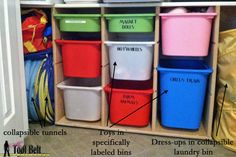 How to organize toys and games