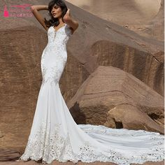 Find More Wedding Dresses Information about Luxury Wedding Dresses Lace Mermaid Bridal Downs Bohemian robe de mariage zuhair murad Modest Dresses korean Brides Gowns  Z539,High Quality gown silk,China gown design Suppliers, Cheap gowns robes from Tanya Bridal Store on Aliexpress.com
