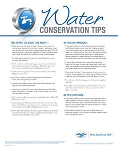 17 Water Conservation Tips and Tricks