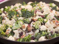 Martina McBride Broccoli and Cauliflower Salad Recipe from Food Network Brocolli Cauliflower Salad, Brocolli Salad, Cauliflower Recipes, Broccoli Recipes, Chicken Broccoli, Top Recipes, Great Recipes, Salad Recipes, Cooking Recipes