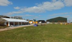 The Lawn in front of the Games Barn, plenty of space for people to enjoy the views over the Somerset Levels