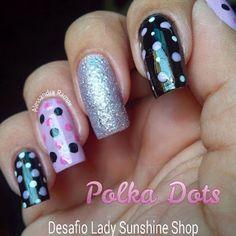 Polka Dots Nails (Poás) - :: Diva Todo Dia ::
