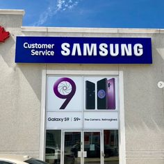 Made & installed by Signarama Dixie for Samsung Channel Letter Signs, Custom Business Signs, Storefront Signs, Samsung 9, Outdoor Buildings, Building Signs, Sign Maker, Light Letters, Sign Company