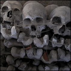 demonstration by Incognita Nom de Plume, via Flickr  Skulls in the Fontanelle Cemetery Caves, Naples, Italy