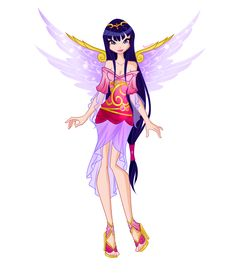 Mirifix is a nymph transformation that allow the Winx to travel to Magnifix, the Nymph realm, and help them stop the overflowing magic of the Rainbow River. Description from deviantart.com. I searched for this on bing.com/images