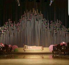 No photo description available. Wedding Backdrop Design, Wedding Reception Backdrop, Wedding Stage Decorations, Wedding Mandap, Bridal Shower Decorations, Indian Wedding Bride, Arab Wedding, Wedding Set Up, Wedding Pastel