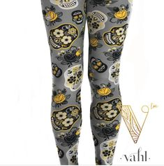 This style is Kasey - a stylin' pair of skull leggings available in kids, misses & plus! | #vahlin | Find more cute leggings and fab fashions at https://thevahl.com/?aff=575 | #butterysoft #butterleggings #leggingsarelife #leggingsarepants #buttermybuns #vahl #leggings