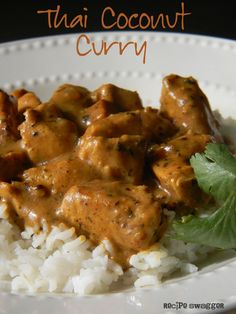 Thai Coconut Curry ~ We like spicy so I added red curry later, it may be easier to use it from the start.