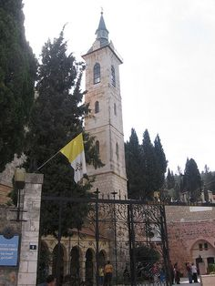 The bell-tower of the Church of the Visitation in Ein Kerem, near Jerusalem (the place where Mary met Elizabeth) www.ffhl.org #Franciscan #HolyLand