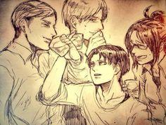 Erwin / Mike / Levi / Hanji
