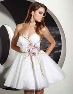 This would be a cute style for bridesmaids dresses just a different color than white.