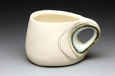 I couldn't love this little pottery mug more!    #Natural living #Organic living  #Audrey Rosulek.
