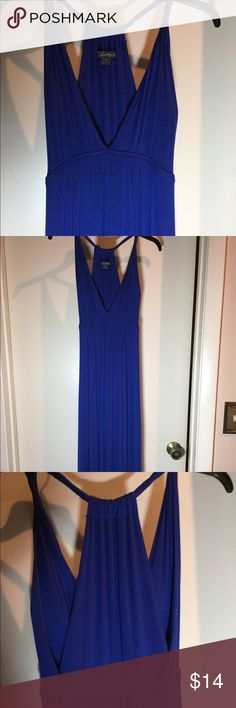 Twenty One Long Sundress or Beach Coverup Twenty One Long Sundress or Beach Coverup in Stunning Cobalt Blue. Padded in bra area should you decide to wear as a Sundress  Comfortable Jersey material.   Love this dress😍 Twenty One Dresses