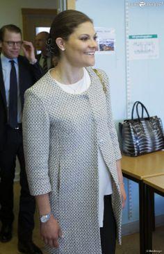 "Crown Princess Victoria and Prince Daniel visited ""Swedish for Immigrant"" school in Tensta"