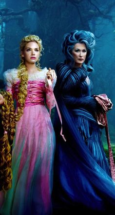 Rapunzel and The Witch from 'Into The Woods' - Costume Designer: Colleen Atwood.