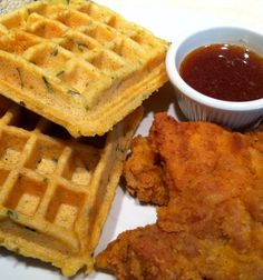 Recipe for Chicken and Savory Cornbread Waffles – gluten free and ...