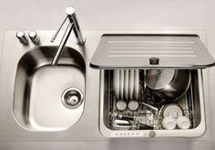KitchenAid Briva Dishwasher/Sink...great idea for small/tiny apartment kitchens