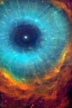 Oh. My. God!   (Eye of the Cosmos taken from the Hubble Telescope, by the way).
