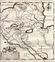 Carte du Paradis Terrestre, printed 1839