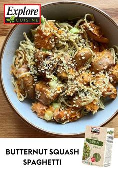 You're sure to get all the protein power you need from this dish! Fuel up and feast on 40g of protein post workout to give your body what it needs after a grueling sweat session! Recipe from @katesnaturalworld on Instagram Edamame Spaghetti, Post Workout Protein, Protein Power, Plant Based Recipes, Butternut Squash, Meals, Dishes, Instagram, Kitchens