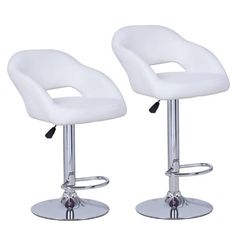 Special Offers - Joveco 360 Degree Swivel Adjustable Semi-open Back Bar Stool  Set of 2 (White) - In stock & Free Shipping. You can save more money! Check It (May 18 2016 at 02:36PM) >> http://counterstoolsusa.net/joveco-360-degree-swivel-adjustable-semi-open-back-bar-stool-set-of-2-white/