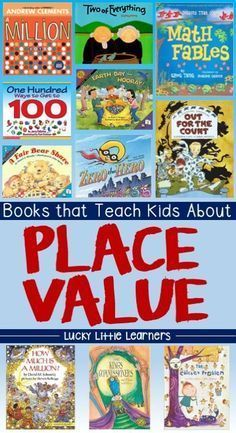 A great collection of books that can be used to teach place value to your…