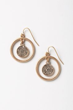 Concentric Shimmer Disc earrings - Anthropologie