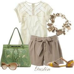 Adding some class to your summer staples, love the shorts and top !!! by paholit