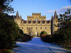 Inveraray Castle - Shrimpy's Home (Duneagle Castle) Downton Abbey Oh The Places You'll Go, Places To Visit, Inveraray Castle, Loch Fyne, Campbell Clan, The Old Curiosity Shop, Scotland Castles, Historic Properties, Castle House
