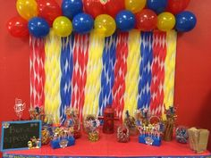 David's first birthday candy table paw patrol