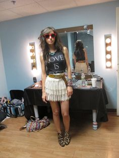 Kate Voegele: love the skirt and the whole outfit! soo original