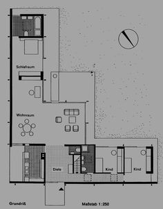 PLAN HOUSE MIES VAN DER ROHE ARCHITECTURE - Pesquisa Google