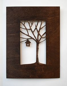 cut out canvas art Red Wall Art, Metal Tree Wall Art, Canvas Wall Art, Tree Canvas, Painting Canvas, Cut Out Canvas, Diy And Crafts, Paper Crafts, Canvas Crafts
