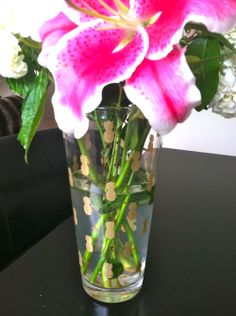 diy - gold pineapple vase using stencils and glass paint